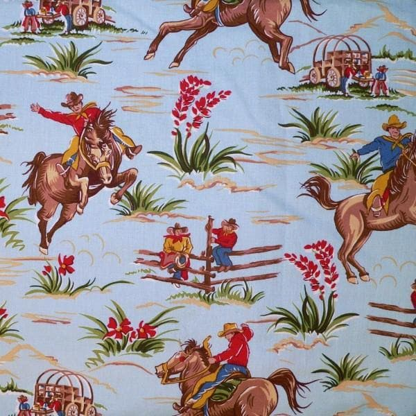 Twin, Full, or Queen Comforter - Barn Dandy Cowboy