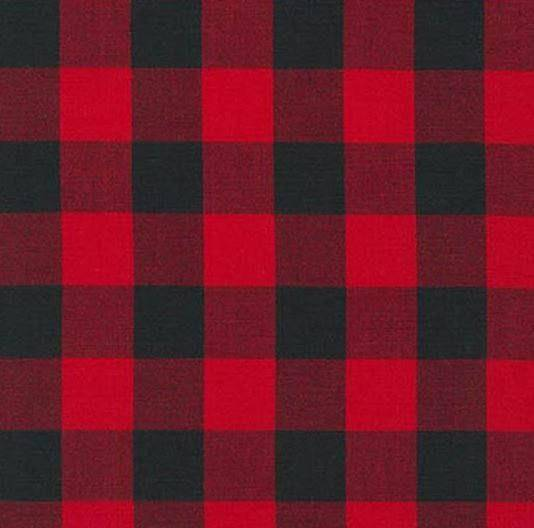 Twin, Full, or Queen Comforter -Red Black Buffalo Check