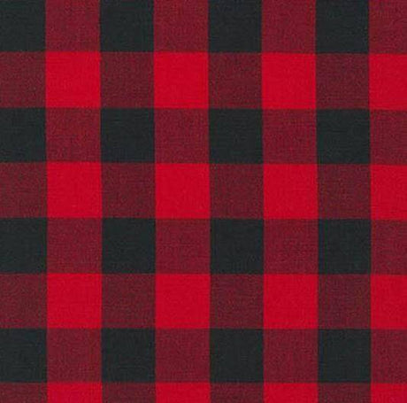 Comforter -Red Black Buffalo Check Comforter and Sham -Toddler, Twin, Full, Queen