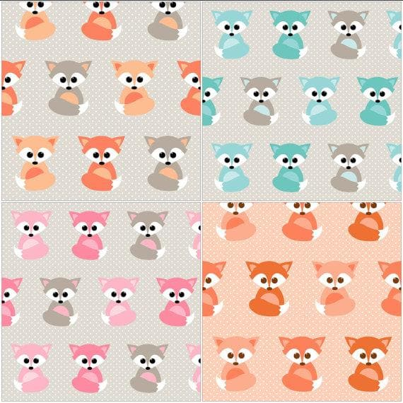 Nursing Pillow Cover -  Baby Fox and Minky Boppy Cover
