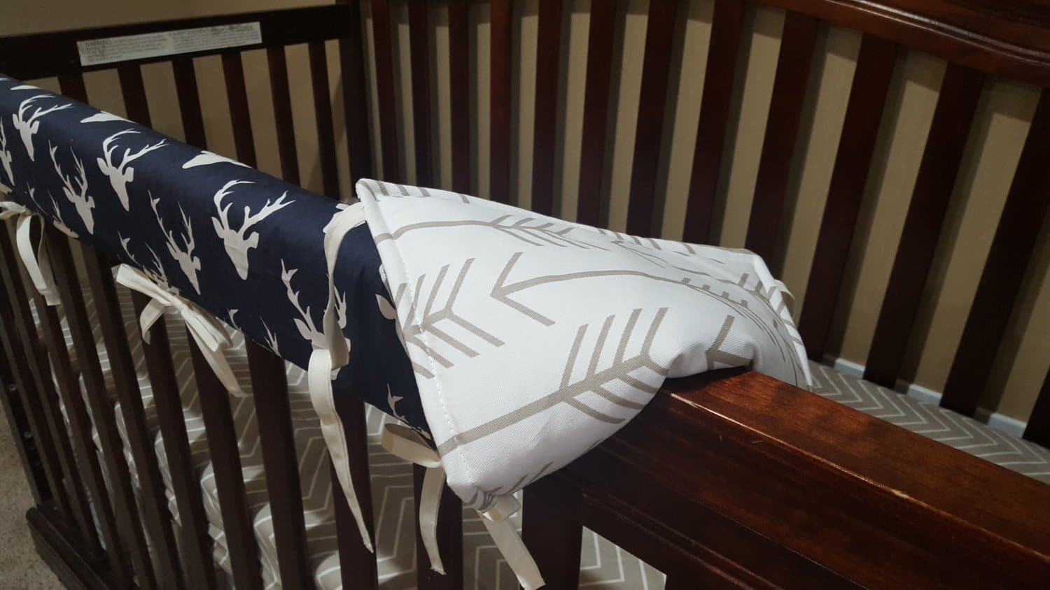 Navy And White Baby Bedding Arrows