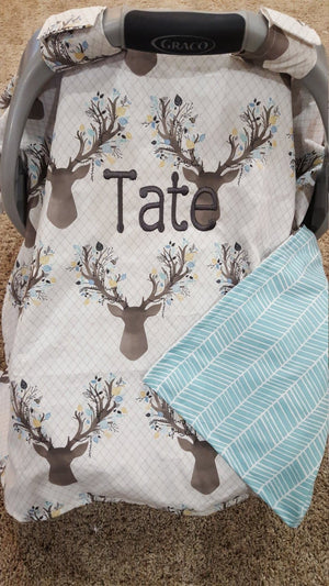 Carseat Tent - Stag Carseat Canopy, Tent, Cover, Deer, Buck