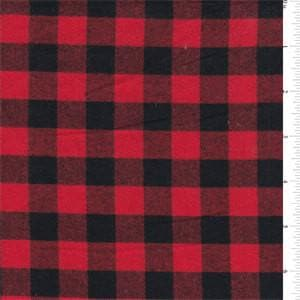 Bumper - Red Black Buffalo Check with black ties