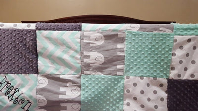 elephant crib bedding, nursery set