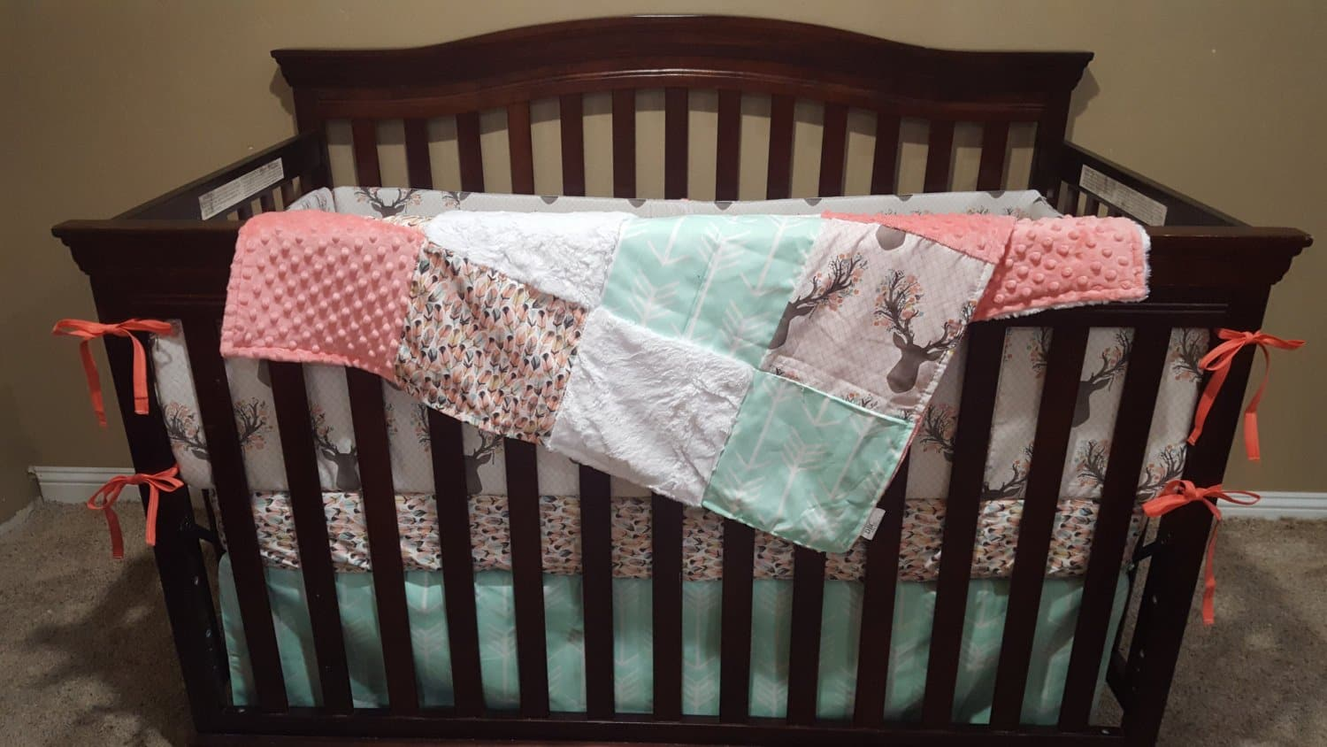 cribs sheet full conjunction inspiring coral crib sheetsr dijizz blankets teal with also sheets organic size swaddlings of in canada and