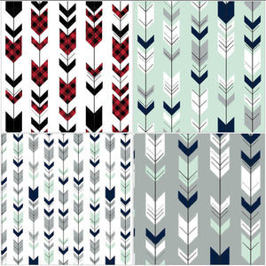 Carseat Tent - Fletching Arrow Carseat Canopy, Tent, Woodland, Arrow, Mint, Navy, Gray, Red, Buffalo Check