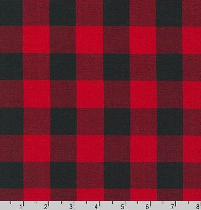 Curtains or Valance - Red black buffalo check