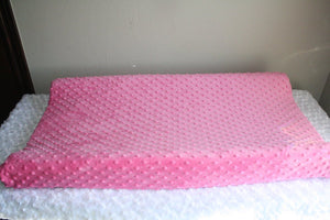 Light Pink Minky Changing Pad Cover