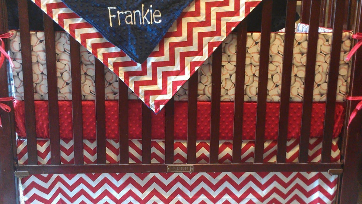 baseball crib bedding, nursery set