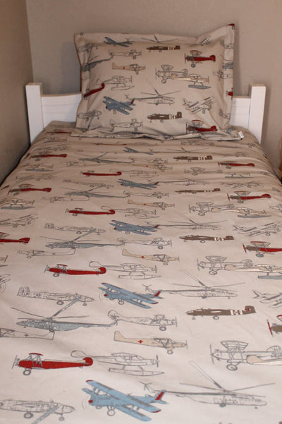 Vintage Airplanes Comforter - Twin, Full, Queen Size