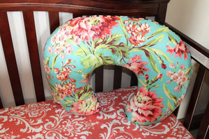 Custom Girl Crib Bedding - Coral Damask, Mint Minky, Cheetah, Love Bliss and Mint Ruffle, Cheetah Crib Bedding