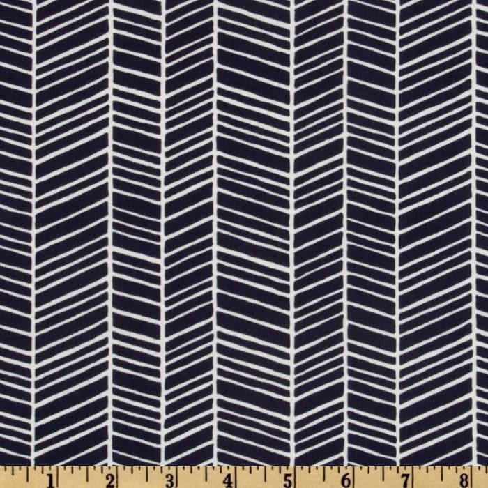 Changing Pad Cover - Navy Herringbone