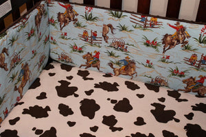 Ready to Ship Boy Crib Bedding - Barn Dandy Cowboy, Pony, and Barn Wood, Cowboy Crib Bedding Ensemble