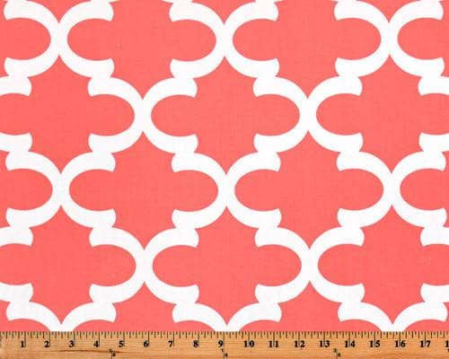 Nursing Pillow Cover - Coral Fynn and Minky Boppy Cover - Quatrefoil, Girl, Coral