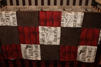 Patchwork Blanket - Cowboy and Barnwood