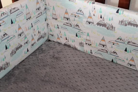 Gray Crib Sheet , Flannel, Cotton, or Minky