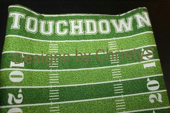 Touchdown Football Field Contour Changing Pad Cover