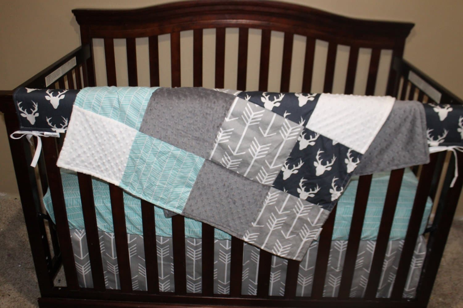boy red baby americana bedding blue navy stripes nursery set bed stars crib
