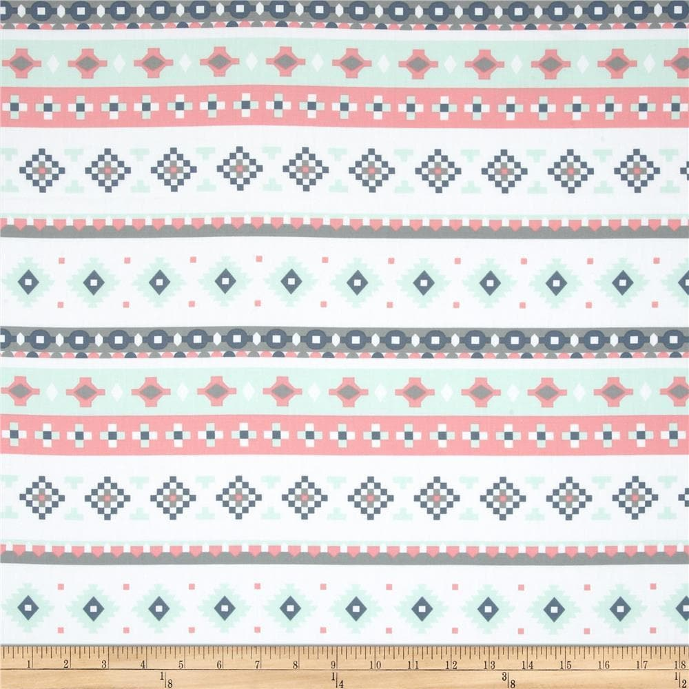 Fitted Bed Sheet - Recollection Blush, Gray, Mint Aztec Stripe- Cradle, Pack and Play, Mini Crib, Crib, Twin, Full