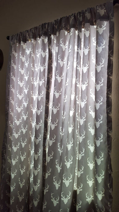 Curtain Panels or Valance - Buck in Light Gray