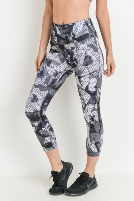 Capri Leggings - Kaleidoscope Camo