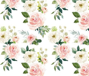 New Design Custom Baby Girl Crib Bedding  - Mixed Flowers, Blush, and Floral, Floral Baby Bedding