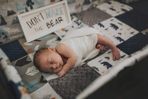 Custom Boy Crib Bedding - Adventure Awaits, Bears, Arrows, Adventure Awaits Crib Bedding