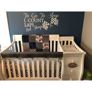 Custom Boy Crib Bedding - Mechanic and Tools, Garage Nursery Set