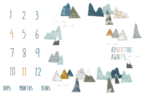 Growth Blanket - Adventure Awaits, mountains