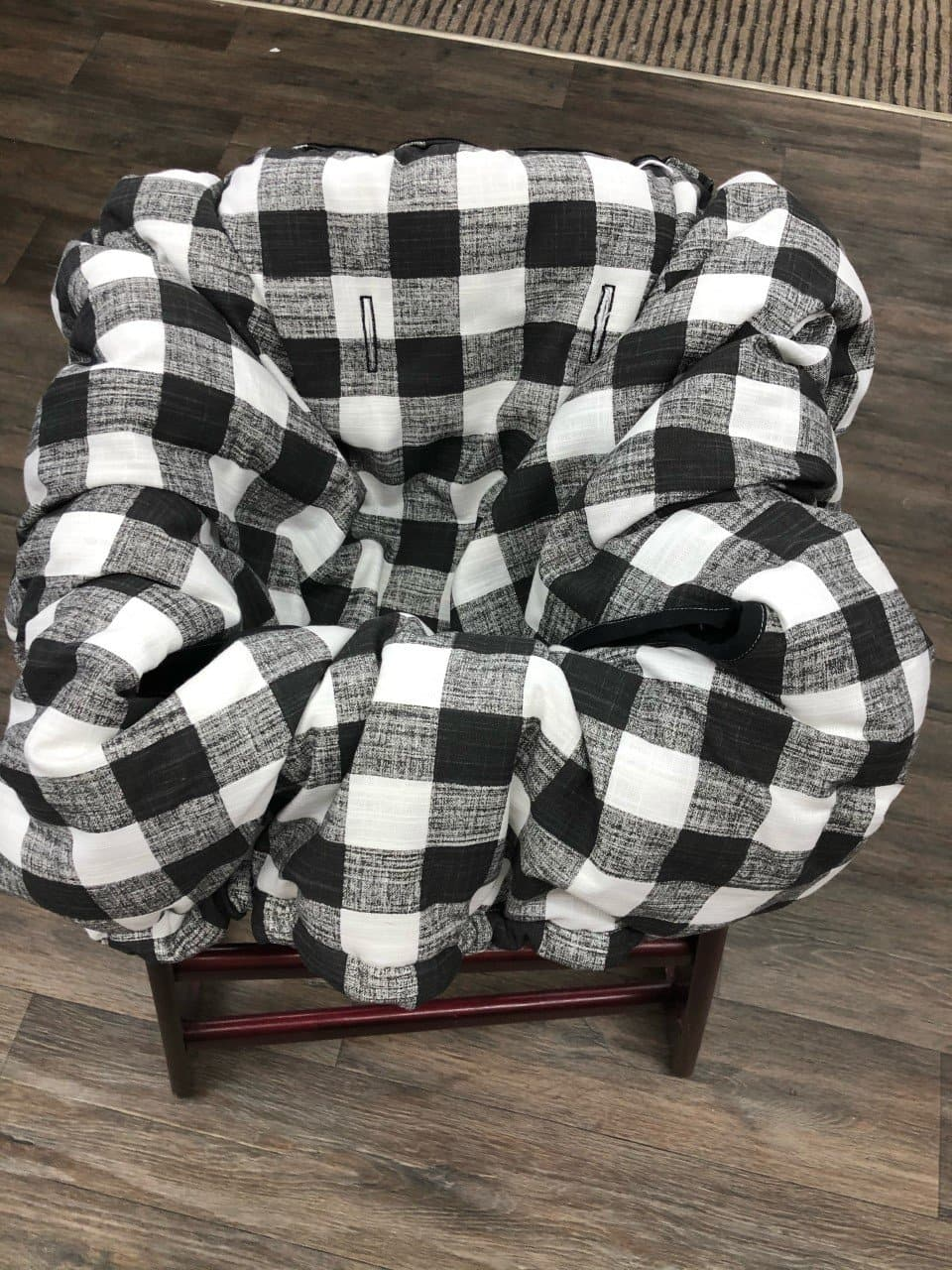 Cart Cover- Black Check Highchair/Cart Cover