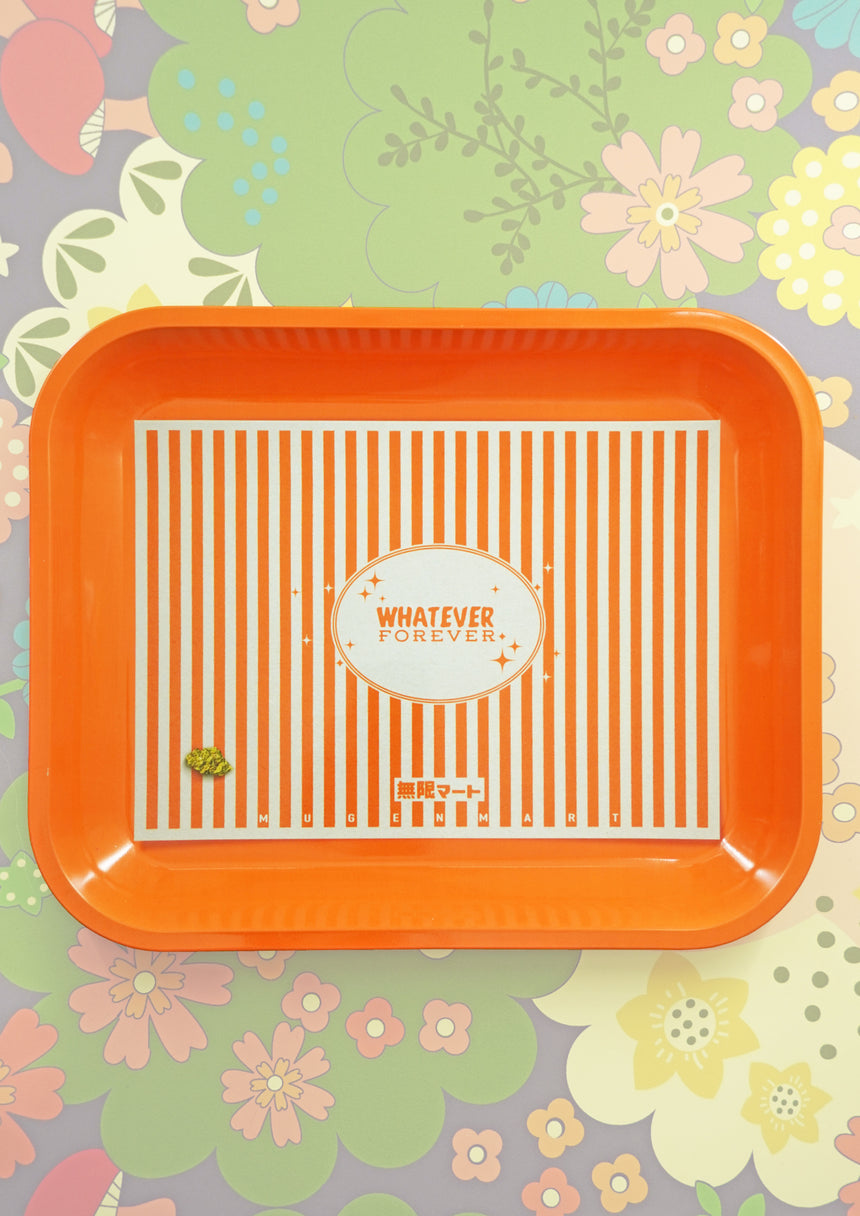 Forever Orange Large Rolling Tray