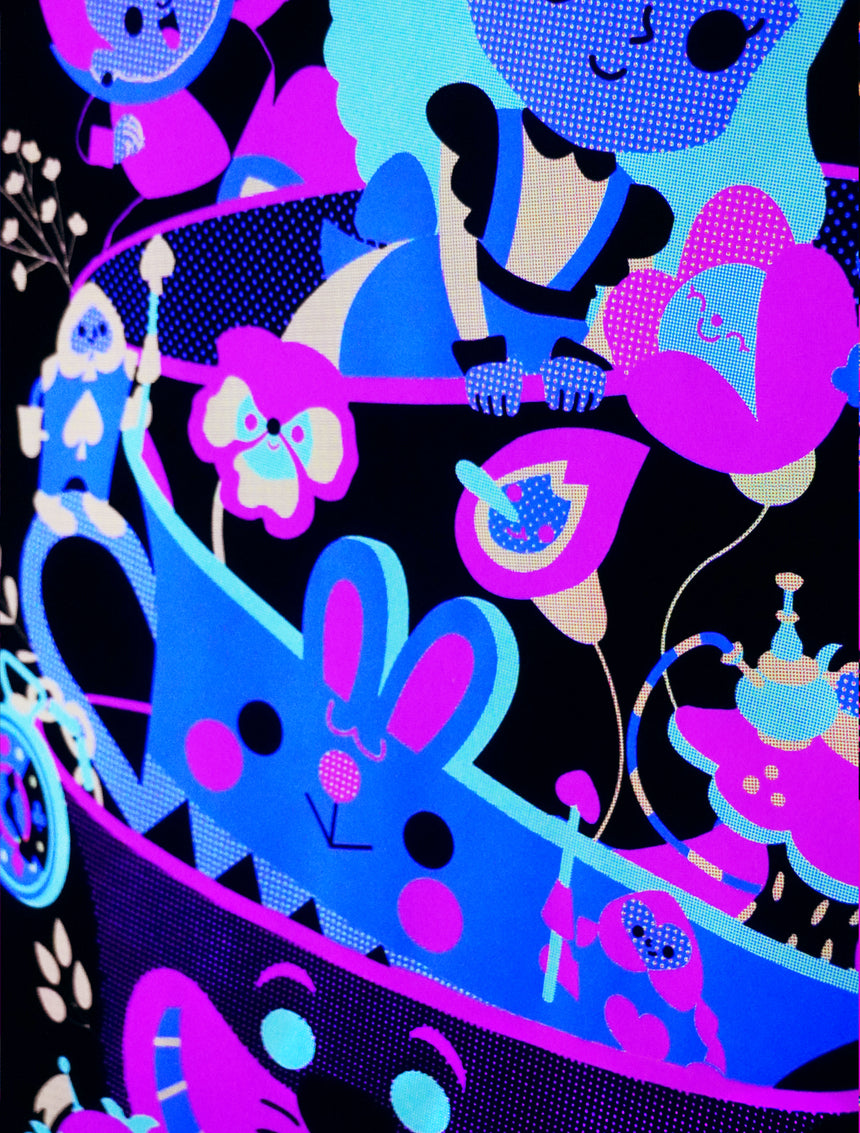 Alice in Wonderland Black light poster