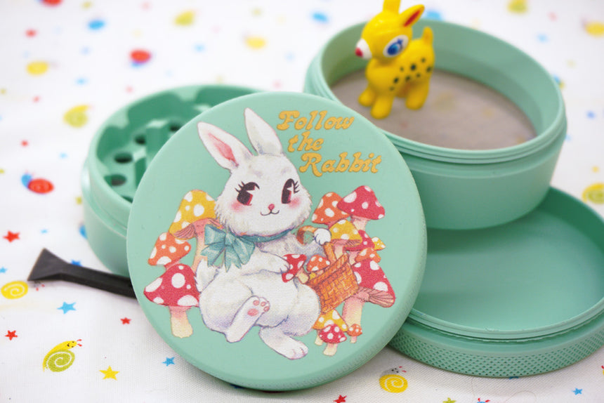 Follow the White Rabbit Matte Grinder 63mm
