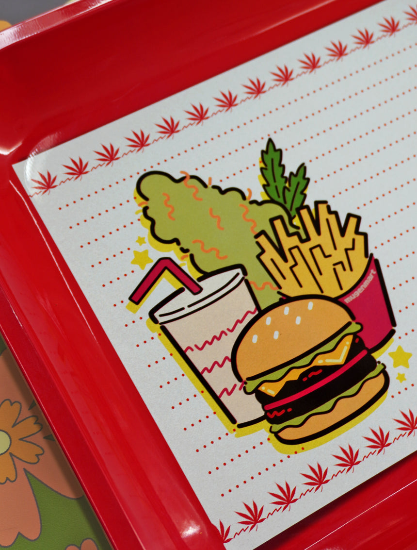 Fast Food Red Large Rolling Tray