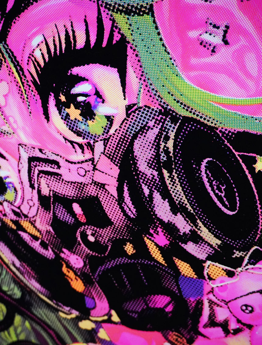 Gasmask Girlie Harajuku Black Light Poster