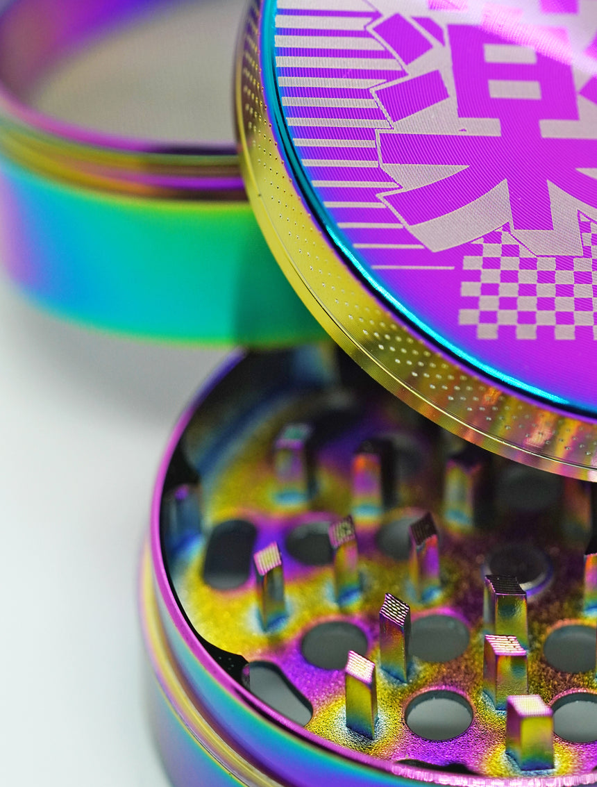 Aesthetic Rainbow aluminum Grinder 63mm