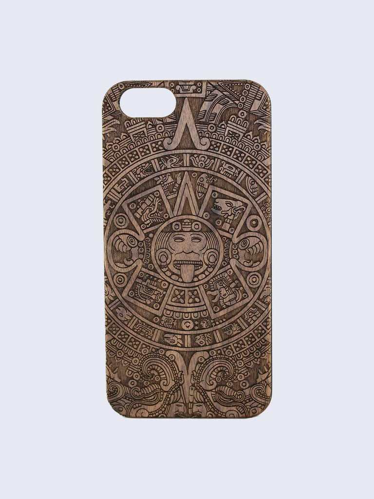 Aztec Pattern Laser Engraved Wooden iPhone Case