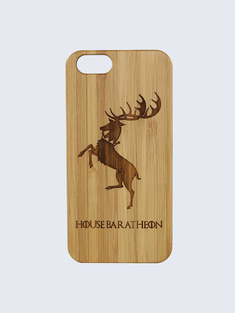 Baratheon Game Of Thrones Laser Engraved Wooden iPhone Case