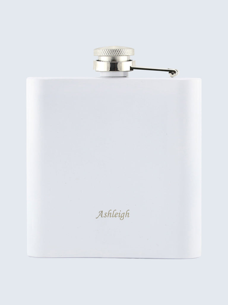 Bridesmaid Wedding Laser Engraved Black Stainless Steel 6oz Hip Flask