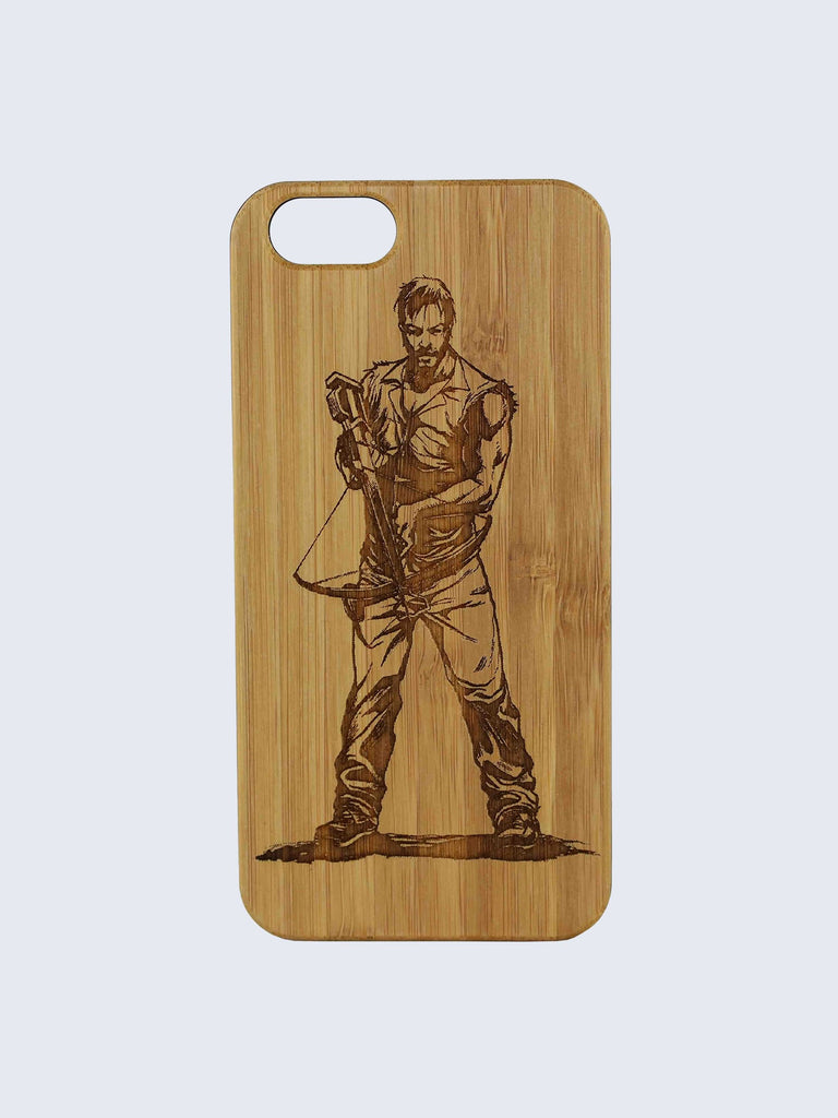 Daryl Dixon Laser Engraved Wooden iPhone Case
