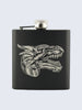 Dragon Game Of Thrones Laser Engraved Black Stainless Steel 6oz Hip Flask