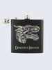 Dragon's Breath MineCraft Laser Engraved Black Stainless Steel 6oz Hip Flask