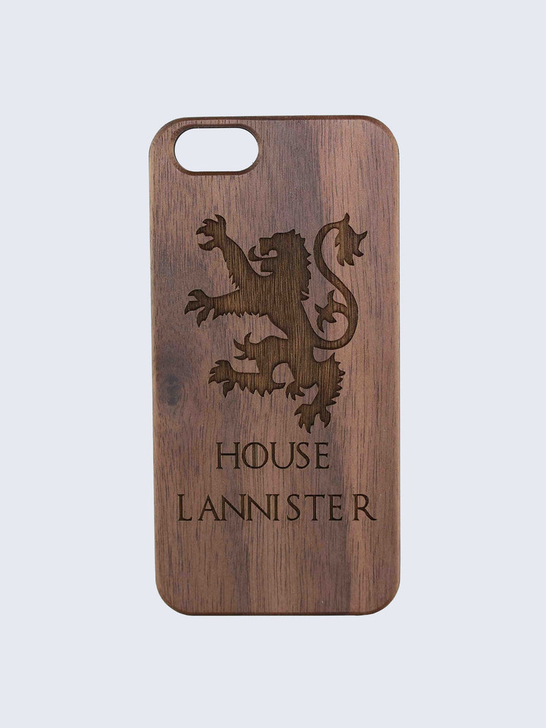 Lannister Game Of Thrones Laser Engraved Wooden iPhone Case