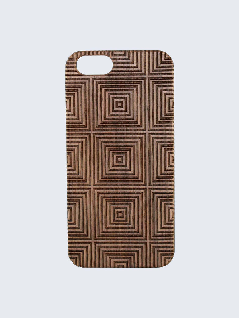 Mesmerise Pattern Laser Engraved Wooden iPhone Case