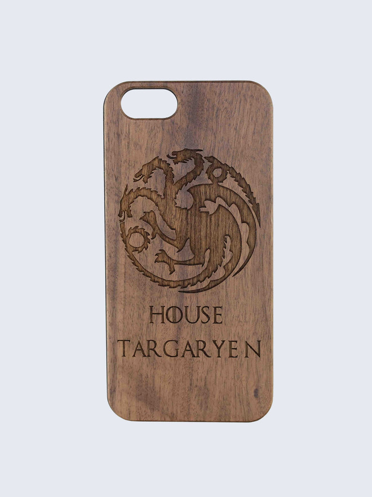Targaryen Game Of Thrones Laser Engraved Wooden iPhone Case