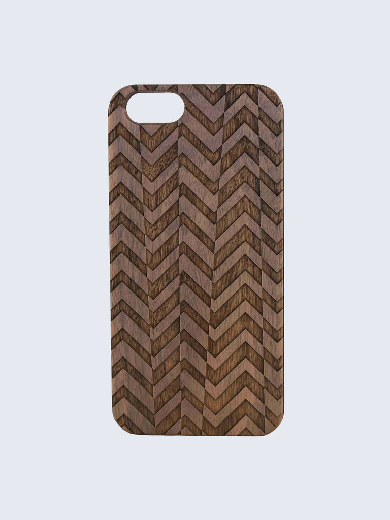 Tyre Pattern Laser Engraved Wooden iPhone Case