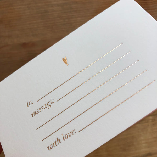 With Love - Foil Gift Card