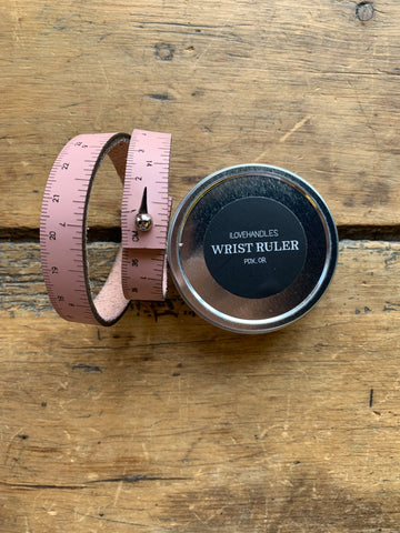 Baby Pink Leather Wrist Ruler