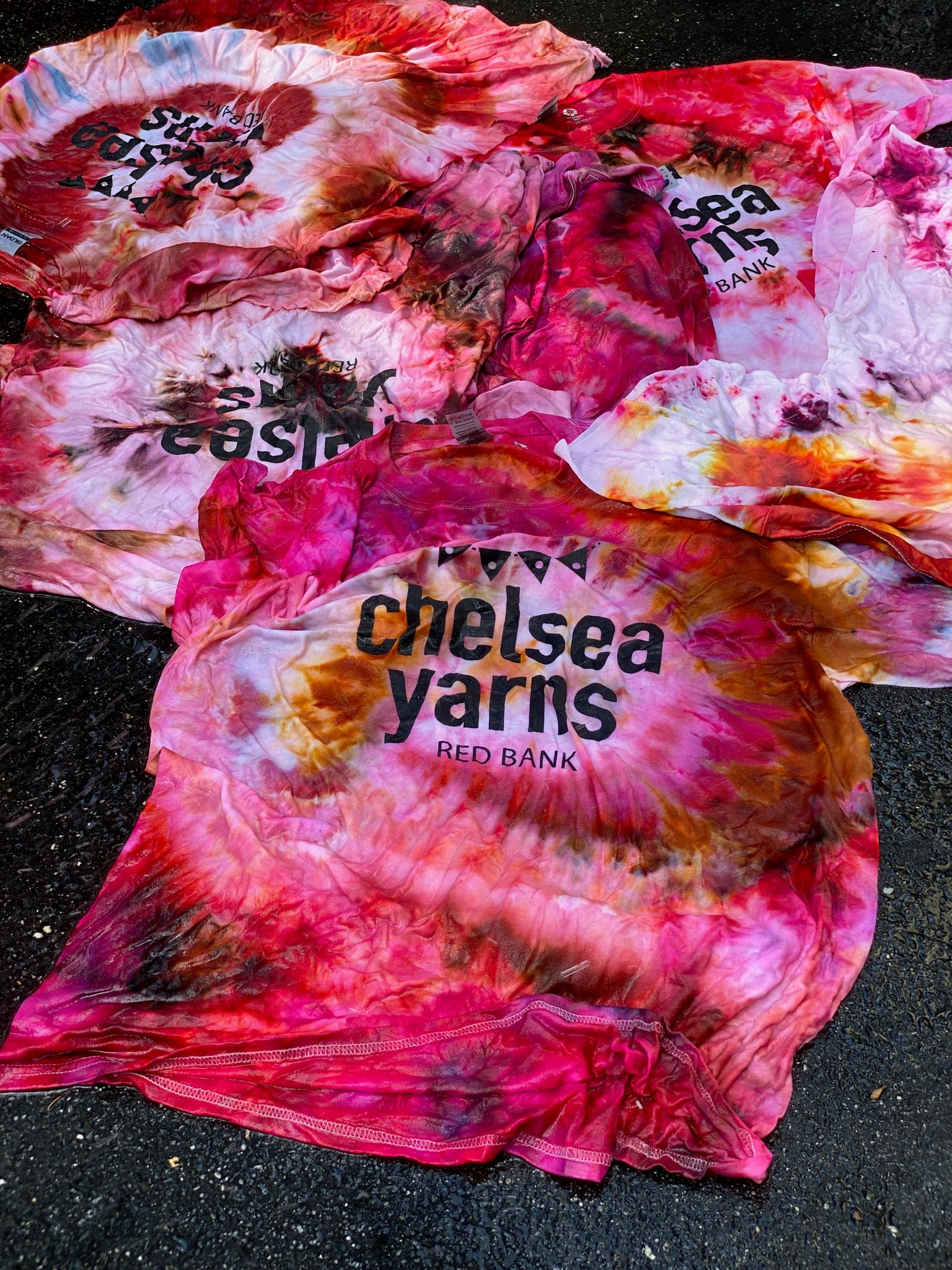 Ice Dyed Short Sleeve T-Shirt Pinks