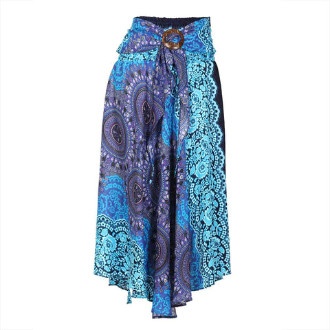 Bohemian Maxi Skirt Blue Purple Mandala 1